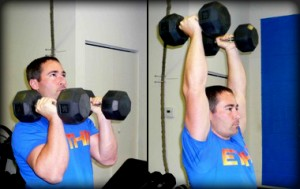 Neutral Grip Dumbbell Overhead Press