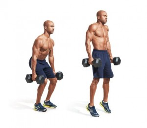 Dumbbell Deadlift / Shrug Combo