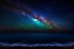 night stars ocean