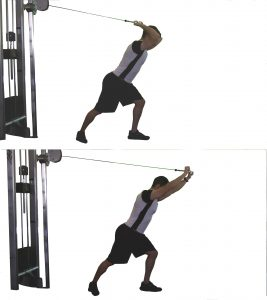 cable pushdowns overhead triceps