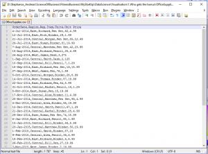 data csv file