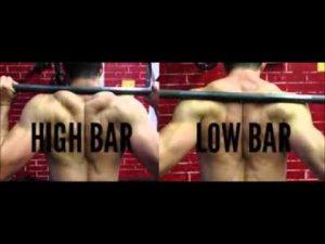 high bar back squat low bar back squat