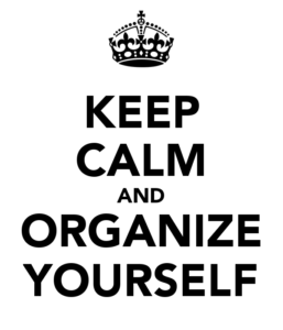 organize yourself