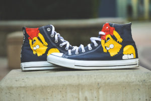 converse chuck tailor black custom the simpson