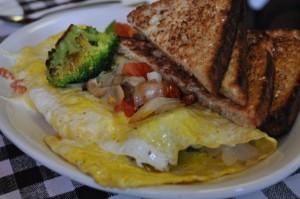 egg white green vegetable