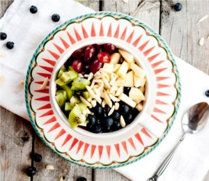 Apple Blueberry Protein Bowl