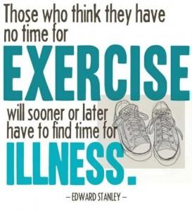 exercice illness