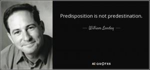 predisposition predestination