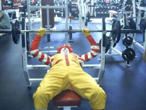 clown at gym