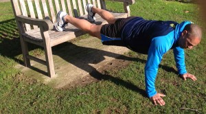outdoors incline pushup