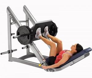 decline leg press