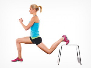 lunge on bench