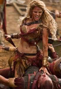 woman in the arena