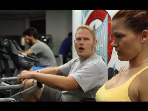 gym guy look girl
