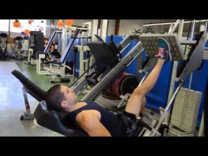 one leg incline leg press