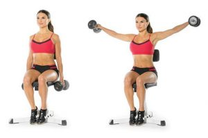 Dumbbell Seated Lateral Raise