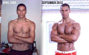 trasformation skinny muscular