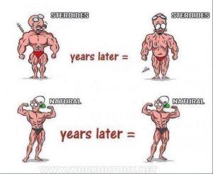 bodybuilder natural vs steroid