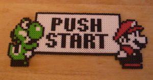 push start mario yoshi