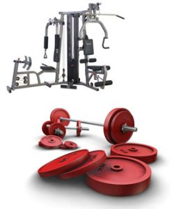machine free weights
