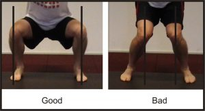 squat knee position