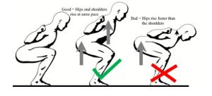 squat back position