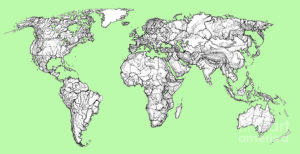 world map drawing