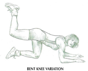 floor hip extension flex knee