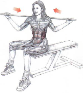 seated broomstick twist
